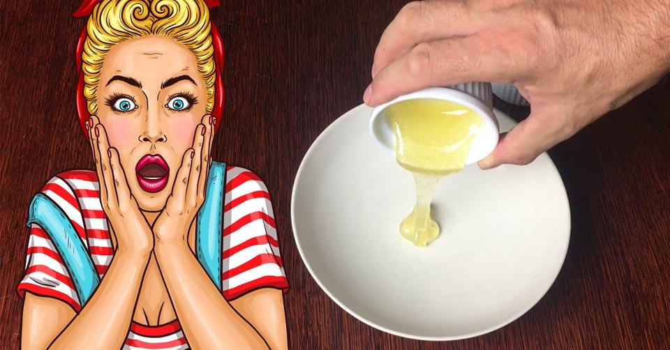 Fałszywy miód w teście rozpuszczania w zimnej wodzie.